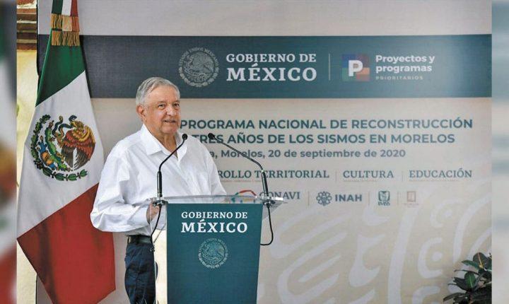 Brinda AMLO respaldo al gobierno de Cuauhtémoc Blanco