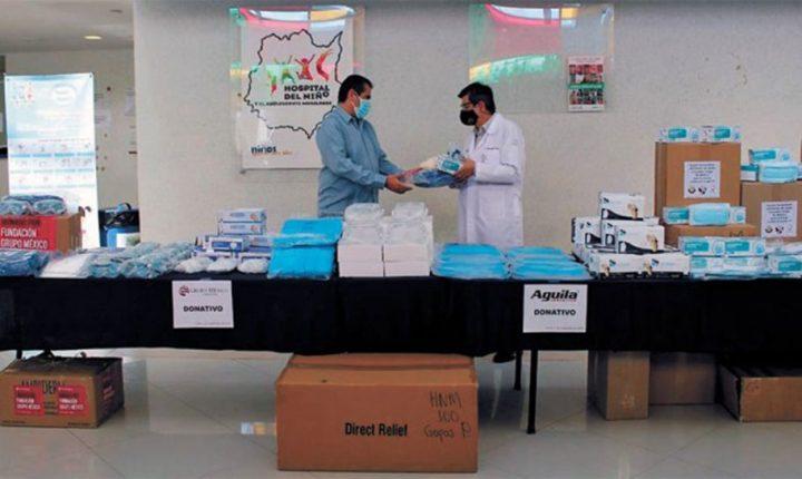 Reciben hospitales de Morelos donación de equipo de protección