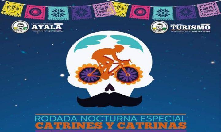 Realizará Ayala rodada nocturna de catrines y catrinas