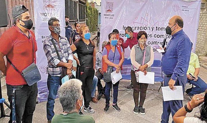 Van por más comités de agua en Morelos