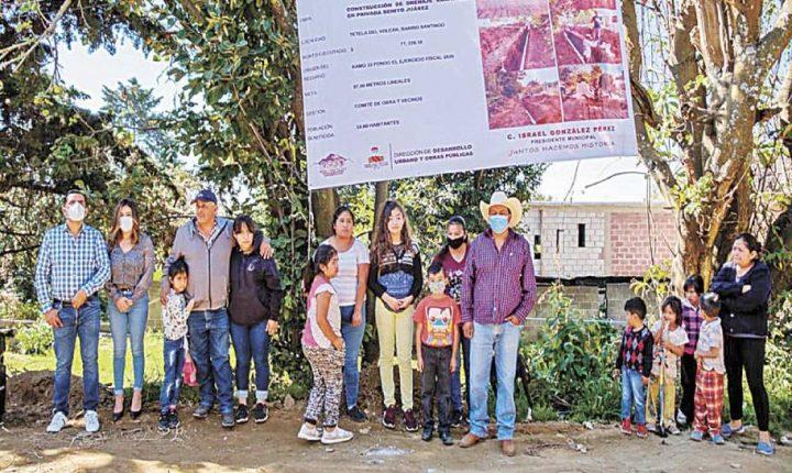 Arranca obras Tetela del Volcán para drenaje
