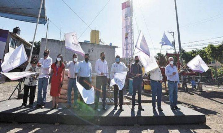 Encabeza Cuauhtémoc Blanco inicio de obra en pozo en Cuautla