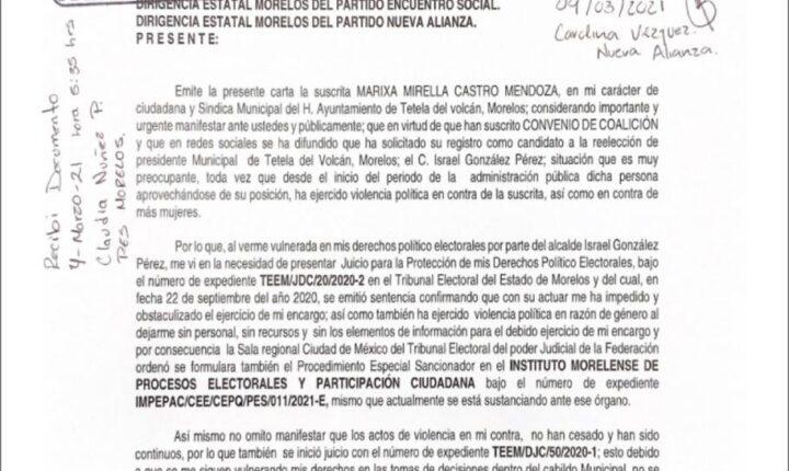 Piden negar registro para reelegirse por violento a alcalde de Tetela del Volcán