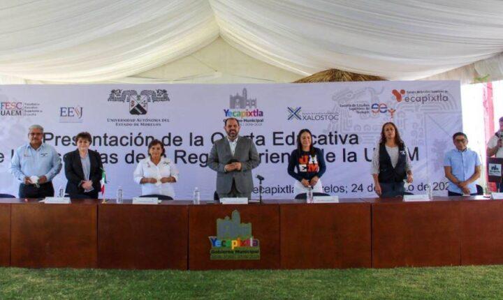 YECAPIXTLA SEDE DE LA PRESENTACIÓN DE LA OFERTA EDUCATIVA DE LAS ESCUELAS DE LA REGIÓN ORIENTE DE LA UAEM.