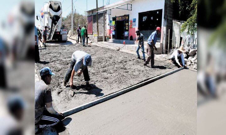 Avanzan obras en calles de Cuautla