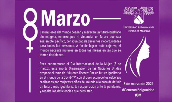 Se suma UAEM en Morelos con amplia agenda a la celebración del 8 de marzo