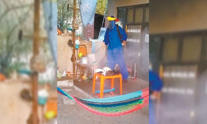 Limpian de COVID viviendas en Ayala