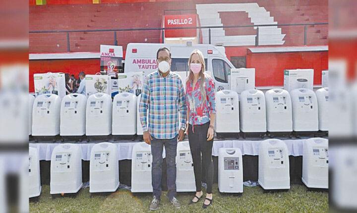 Entrega DIF Yautepec concentradores de oxígeno a familias
