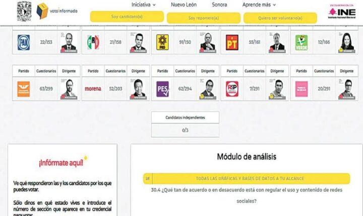 Presentan INE y UNAM plataforma Voto Informado