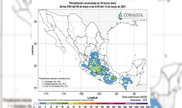Pronostica Ceagua tiempo inestable para Morelos, con lluvias y calor extremo