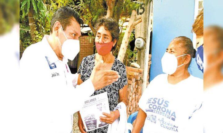 """Sacaremos adelante a Cuautla"", promete Jesús Corona"