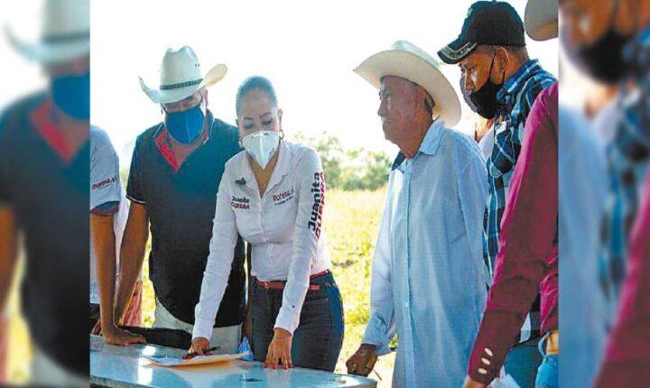 Mi proyecto es para todos, dice Juanita Guerra en Tepalcingo