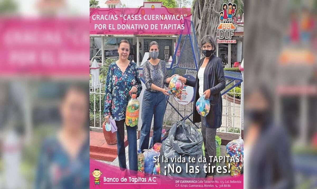 Tapitas dan vida; las acopia DIF Cuernavaca