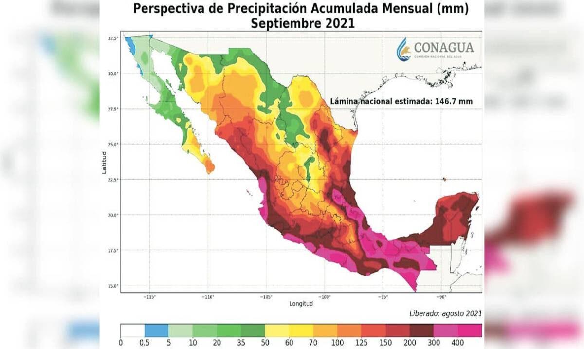 Vienen 22 días de aguaceros, pronostica Ceagua