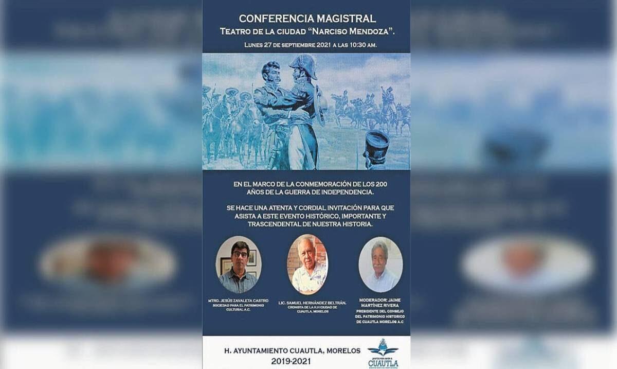 Conmemorarán hoy la consumación de la Independencia de México con una conferencia magistral
