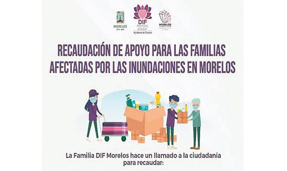 Habilita DIF Morelos centro de acopio